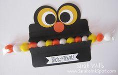 Punch Art Monster Halloween Candy Tube Treat II