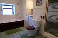 Glenlivet Cottage - bathroom with shower and bath