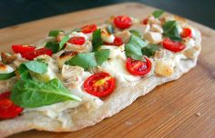 Chicken Florentine Flatbread Pizza: http://www.parade.com/64364/kimberlymorales/chicken-florentine-flatbread-pizza/