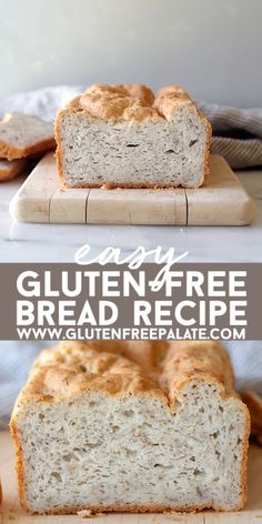 Easy to make gluten-free bread recipe that's dairy-free and can be made in an oven or be used for gluten-free bread machine recipes. You won't believe the amazing texture of this gluten-free bread. Gluten Free Bread Recipe Easy, Lowest Carb Bread Recipe, Easy Bread Recipes, Gluten Free Baking, Gluten Free Oatmeal Bread Machine Recipe, Gluten And Yeast Free Bread Recipe, Rice Flour Bread Machine Recipe, Organic Bread Recipe, Bread Machine Bread