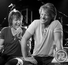 Richie Sambora & Jon Bon Jovi in happier times. These guys are brothers! What happened? Fix it, please! I just miss this...