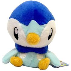 Pokemon Japanese Banpresto 5 Inch Plush Figure Piplup [Sitting] *** Details can be found by clicking on the image. (This is an affiliate link) #PlushFigures