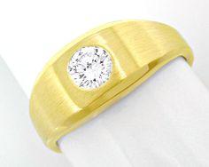 1A-Brillant-Solitär-Ring 0,38ct 14K Gelbgold Luxus! Neu - Gold, Platin Schmuck mit Diamanten bis MINUS 75% unseres Schätzwertes, S8638
