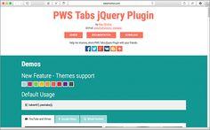 簡単で楽ちん!さまざまなタブコンテンツをシンプルなHTMLで実装できる軽量スクリプト -PWS Tabs