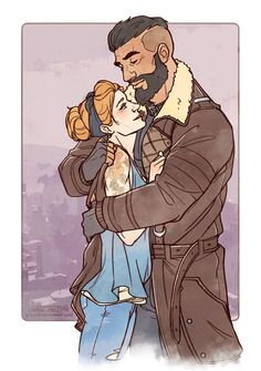 The gorgeous Sophia and Arthur Maxson, commissioned by arlyshawk! Fallout Art, Fallout New Vegas, Video Game Art, Video Games, Elder Maxson, Vault Tec, World On Fire, Fall Out 4, Geek Games