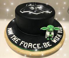 Star Wars Cake Sart Wars cake made with fondant #star wars #darth Vader #Vader