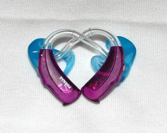 Like these colorful purple hearing aids