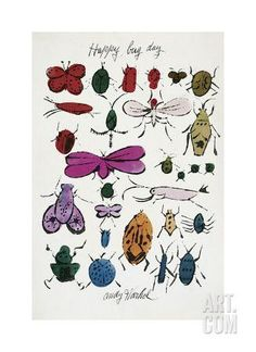 Happy Bug Day, c.1954 Giclee Print by Andy Warhol at Art.com