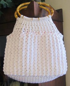 Crochet PDF Pattern for Lacy White Handbag by DesignsbyDEWaltz, $5.95