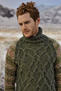 Cables and fair isle sweater -Craggie by Rowan