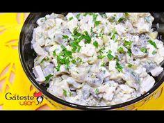 Salata de Pui cu Ciuperci si Castraveti Murati - YouTube Potato Salad, Potatoes, Ethnic Recipes, Youtube, Food, Salads, Potato, Essen, Meals