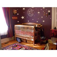 Starry Nursery, so much nicer than pale pink or blue