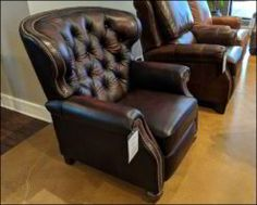 American Made Tufted Leather Recliner Furniture Sale, Furniture Making, Brown Leather Chairs, Leather Living Room Furniture, Comfort Design, Buy Chair, Leather Recliner, Bedroom Accessories, American Made