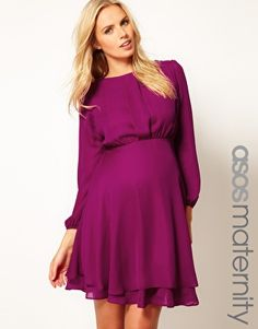 Enlarge ASOS Maternity Double Layer Dress With Long Sleeves