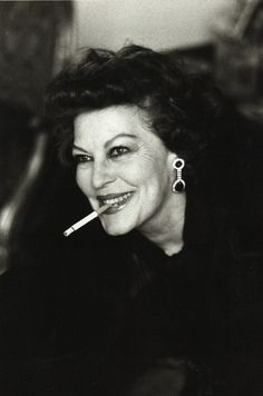 HELMUT NEWTON photographer.  Ava Gardner, London 1984. Older, yet still beautiful; she had an incredible odometer of life, very fast.