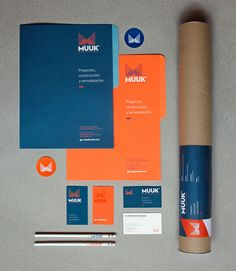 Identity and branding for Muuk architects, a Mexico City based company specialized in construction and remodeling proyects. Collateral Design, Corporate Identity Design, Stationary Design, Brand Identity Design, Graphic Design Branding, Logo Design, Visual Identity, Business Logo, Business Card Design