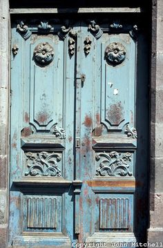 spanish colonial door... old quito ecuador