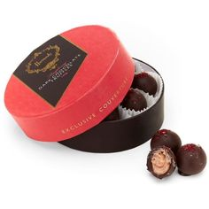 Harrods Raspberry Dark Chocolate Truffles (140g) (1.450 RUB) ❤ liked on Polyvore featuring beauty products and makeup