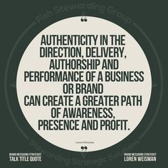 """....delivery, authorship and performance of a business or brand can create a greater path of awareness, presence and profit."""" #Lorenweisman #quotes #authenticmessagingstrategies #talktitlequote #brandmessagingstrategist #keynotespeaker #direction #delivery #path Keynote Speakers, Delivery, Messages, Create, Business, Quotes, Quotations, Store"""