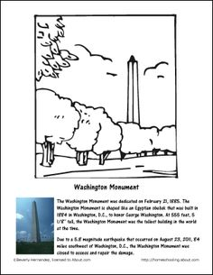 washington monument coloring page washington monument coloring page
