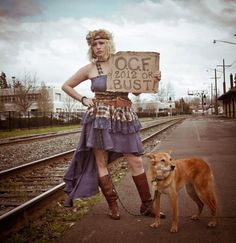 Oregon Country Fair, Rail Road tracks, Claire Flint Photography, Revivall Clothing