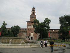 Castelo Sforzesco em Milao onde se encontra alguns afrescos de Leonardo.