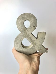Excited to share this item from my #etsy shop: Large Concrete ampersand, sign,home decor,housewarming gift,concrete sign,wedding gift,ampersand sign,ornament,paperweight Skull Planter, Ampersand Sign, Concrete Plant Pots, Plaster Crafts, Childrens Gifts, Animal Decor, Plant Holders, Natural Materials, Wedding Signs