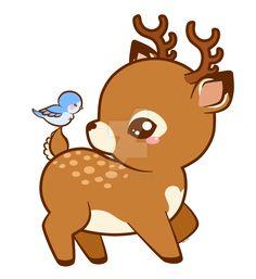 Cute deer cartoon vector 1544999  by tigatelu on VectorStock