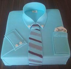 Birthdaycake, man, shirtcake, tie, verjaardagstaart, man, stropdas, overhemd