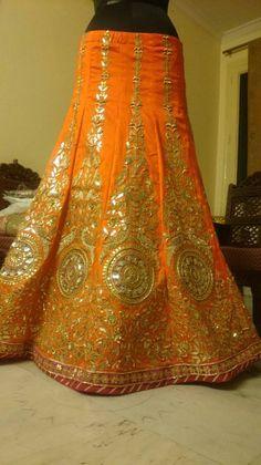 Rajasthani Lehenga, Gota Patti Lehenga, Tiger Print Dress, Rajputi Dress, Indian Designer Wear, Beautiful Moments, Indian Wear, Celebs, Bride