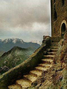 Queribus Castle or Chateau de Queribus, Aude, France- Now open to visitors