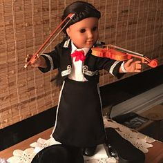 Mariachi charra suit traje black gabardine gold trim fits 18 in like American Girl doll Folklorico Dresses, Mariachi Suit, Graduation Cap And Gown, Color Swirl, Full Circle Skirts, Boy Doll, Your Girl, Victorian Fashion, Her Hair