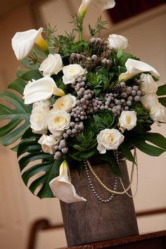 wintery, beautiful flower arrangements