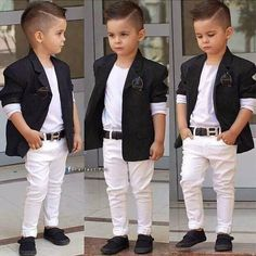Best 21 little boy haircuts - new hairstyle for boys Toddler Boy Fashion, Little Boy Fashion, Toddler Boy Outfits, Fashion Kids, Fashion Fashion, Fashion Trends, White Outfits For Boys, Little Boy Outfits, Toddler Boy Haircuts
