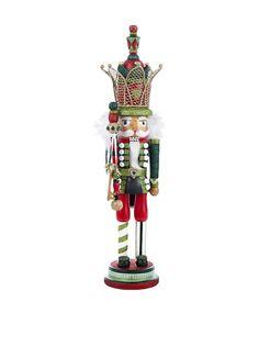 Kurt Adler Hollywood Red & Green Crowned Nutcracker at MYHABIT