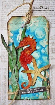 Tag Friday - Cracked Seahorse - Bumblebees and Butterflies