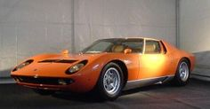Frank Sinatra's favorite car ... 1969 Lamborghini Miura P400S. Purchased for his 54th Birthday, from the Lamborghini factory. Painted Orange Metallic, his favorite color, and trimmed inside w/Boar Leather.