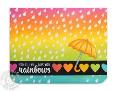 Sunny Studio: Inspiration Week: Introducing Team Player & Rain Showers Stamps
