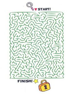 Printable worksheets for kids. Mazes 56