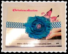 Turquoise ShabbyChic Baby Chevron soft by christiencollection, $9.00