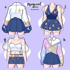Cartoon Outfits, Anime Outfits, Fashion Outfits, Fashion Design Drawings, Fashion Sketches, Drawing Anime Clothes, Clothing Sketches, Cute Art Styles, Character Outfits