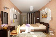 Спальня дизайн фото 18 кв.м