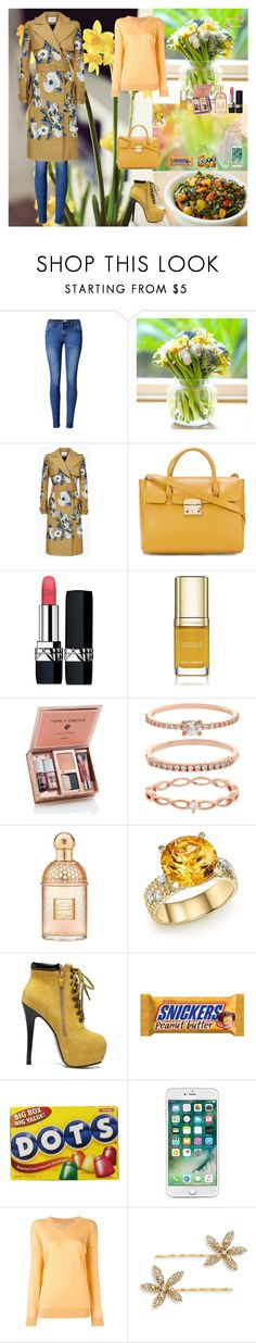 """Spring,Spring!!!🌼🌼"" by oksana-kolesnyk ❤ liked on Polyvore featuring WithChic, Erdem, Furla, Christian Dior, Dolce&Gabbana, Accessorize, Guerlain, Bloomingdale's, STELLA McCARTNEY and Jennifer Behr"