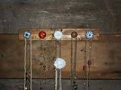 Necklace Organizer with Orange Blue and by TheBarnOwlBoutique, $30.00