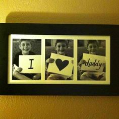 Father's Day gift - cute idea for photo