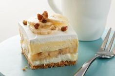 """Banana Split """"Cake"""" recipe - """"In the words of one fan, """"I have co-workers who get down on their knees and beg me to make this!"""" Fix these delish treats and spread a little happiness."""