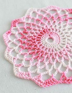 Doily Pattern-love this, so pretty!  I've been wanting to paint some canvas' and glue crochet pieces to them for wall hangings and these would be perfect!
