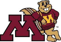 Goldy Gopher - Minnesota Golden Gophers mascot logo.
