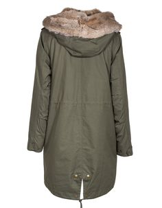 iq berlin parka mit echtem kaninchenfell in khaki shopping list pinterest. Black Bedroom Furniture Sets. Home Design Ideas