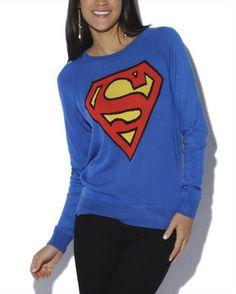 Superman Fine Gauge Sweater on shopstyle.com